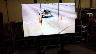 Alquiler 3x1 video Wall 55 sin bordes